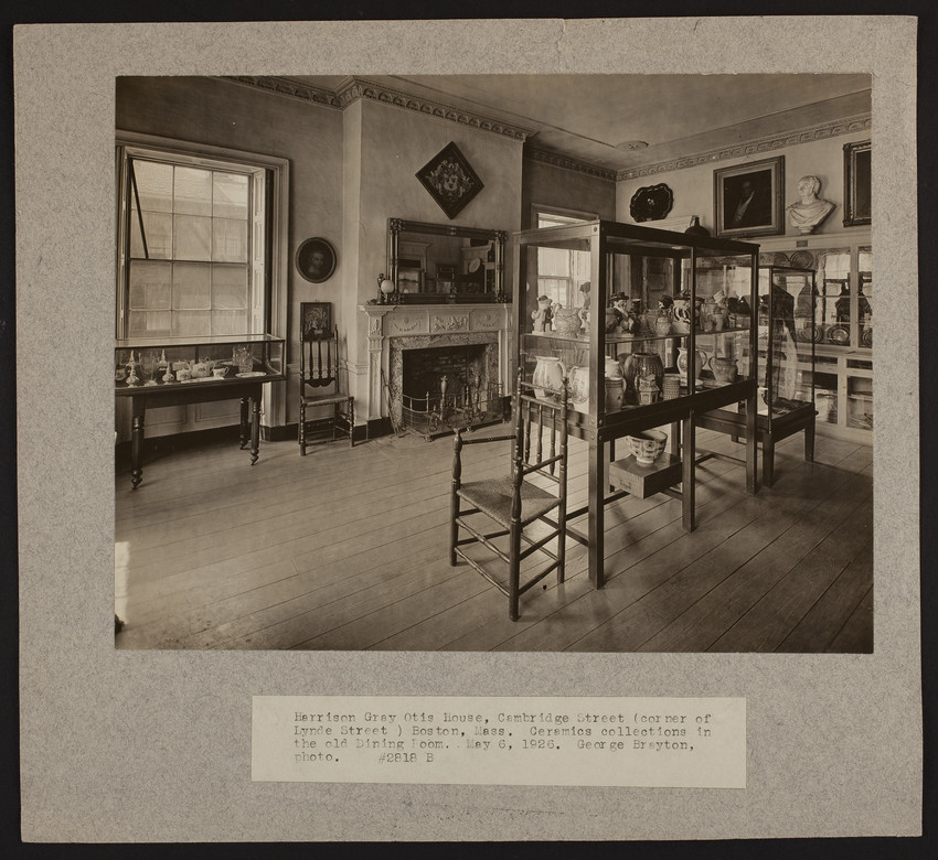 Interior view of the Harrison Gray Otis House, dining room, Boston, Mass., May 6, 1926