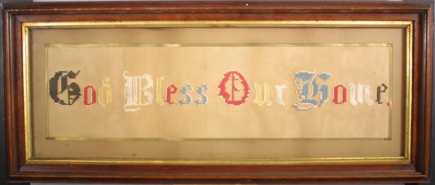 Needlework on bristol board