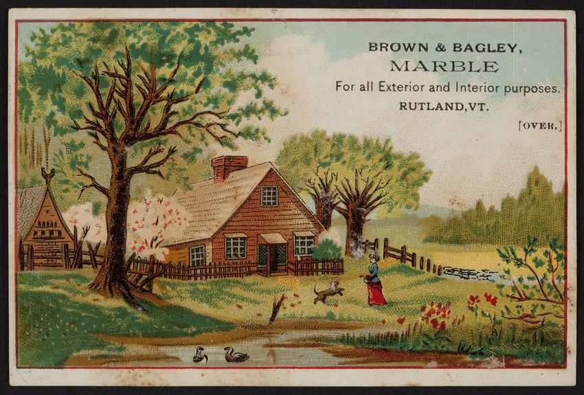 Brown & Bagley, marble, Rutland, Vermont, undated