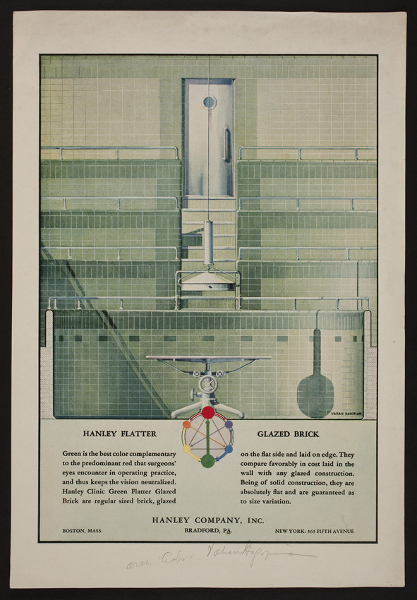 Advertisement for Hanley Company Inc., Hanley Flatter Glazed Brick, Boston, Mass., undated