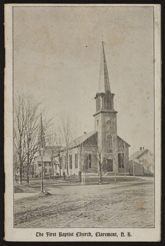 Year book and directory of the First Baptist Church, corner Main and Central Streets, Claremont, New Hampshire, ca. 1889