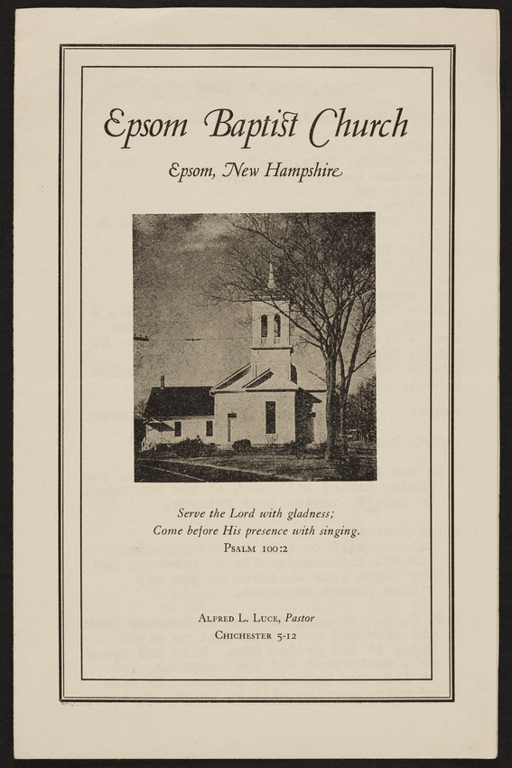 Epsom Baptist Church, Epsom, New Hampshire, July 4, 1954