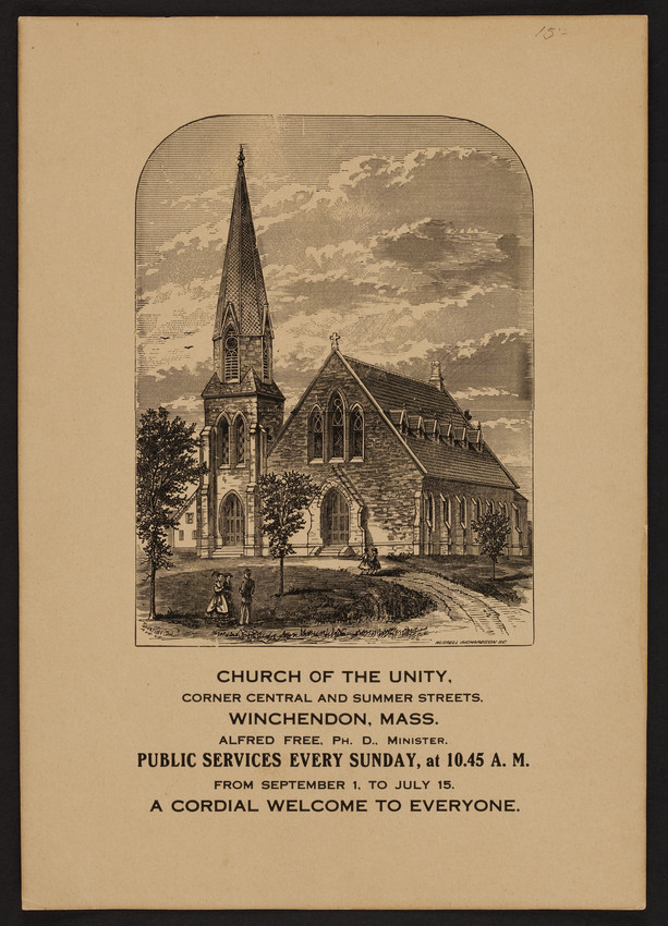 Church of the Unity, corner Central and Summer Streets, Winchendon, Mass., undated