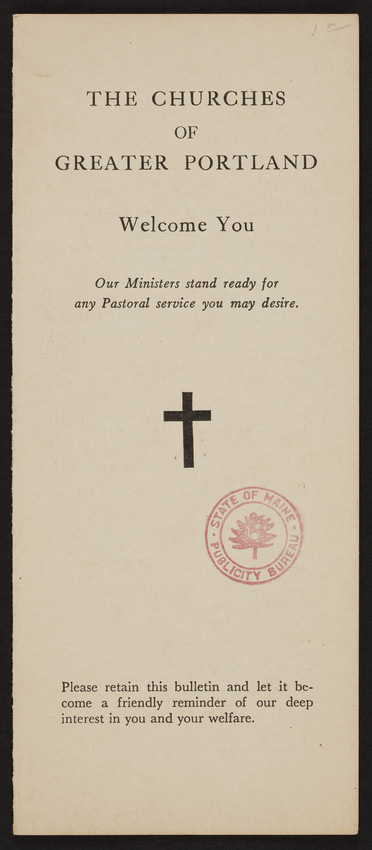 Churches of Greater Portland, Portland Maine, undated