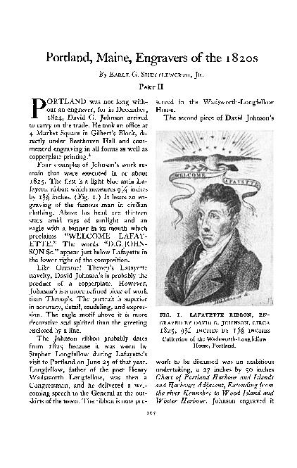 Portland, Maine, Engravers of the 1820s (Part II)