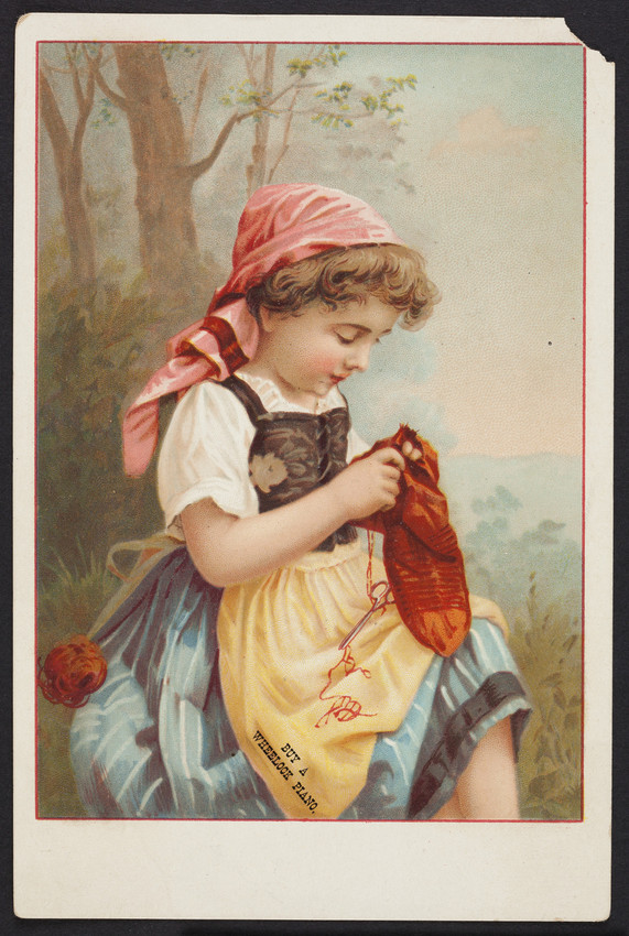 Trade card for The Wheelock Piano, manufactory, 149th Street near 3d Avenue, New York, New York, undated