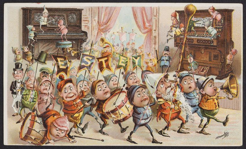Trade card for the Estey Organ Company, Brattleboro, Vermont, undated