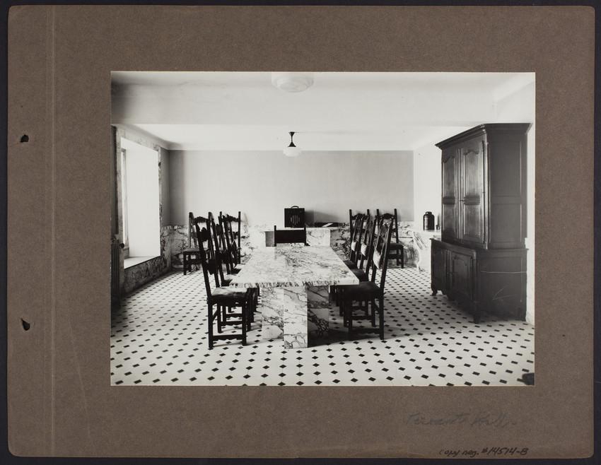 La Leopolda, servants' hall, 1939