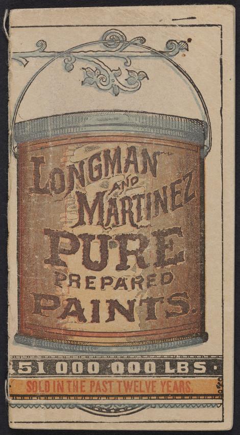 Memoranda, Longman and Martinez, pure prepared paints, New York, New York, undated