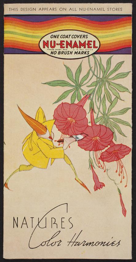 Nature's color harmonies, enamelized paint, Nu-Enamel Corporation, Chicago, Illinois, 1935