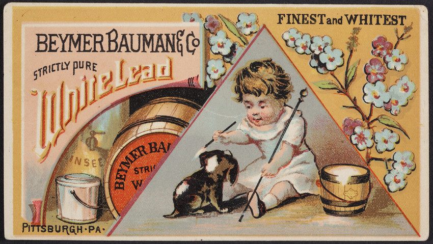 Trade card for Beymer, Bauman & Co. White Lead, office 39 Fifth Avenue, Pittsburgh, Pennsylvania, 1878
