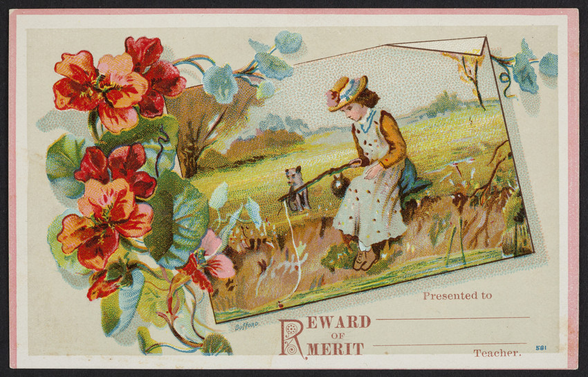 Reward of merit card sample, no. 801, G.P. Brown & Co., Beverly, Mass., undated