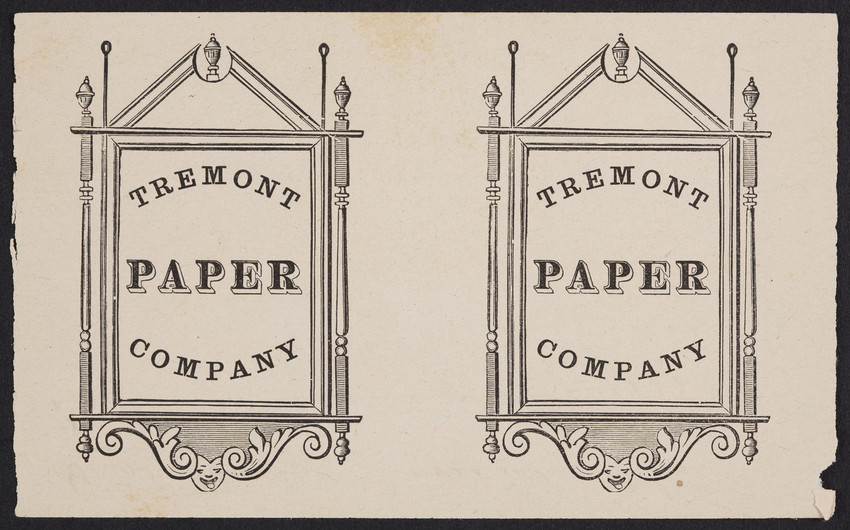 Sample for the Tremont Paper Company, location unknown, undated