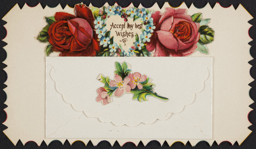 Card sample Paris Beauties, Kelsey Press Co., Meriden, Connecticut, undated