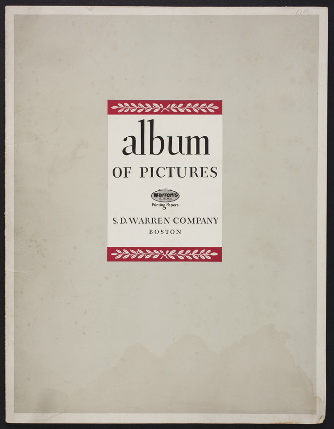 Album of pictures, a presentation of twenty-nine photographs reproduced by letterpress on Warren's Lustro Brilliant-Dull, S.D. Warren Company, Boston, Mass., undated