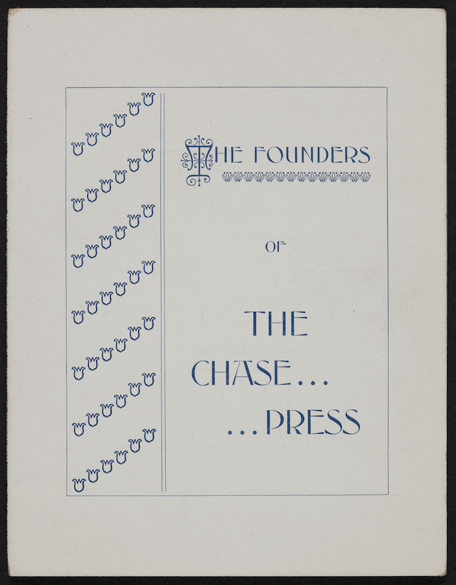 Founders of The Chase Press, Chase Brothers, manufacturing stationers, 37-39 Washington Street, Haverhill, Mass., undated