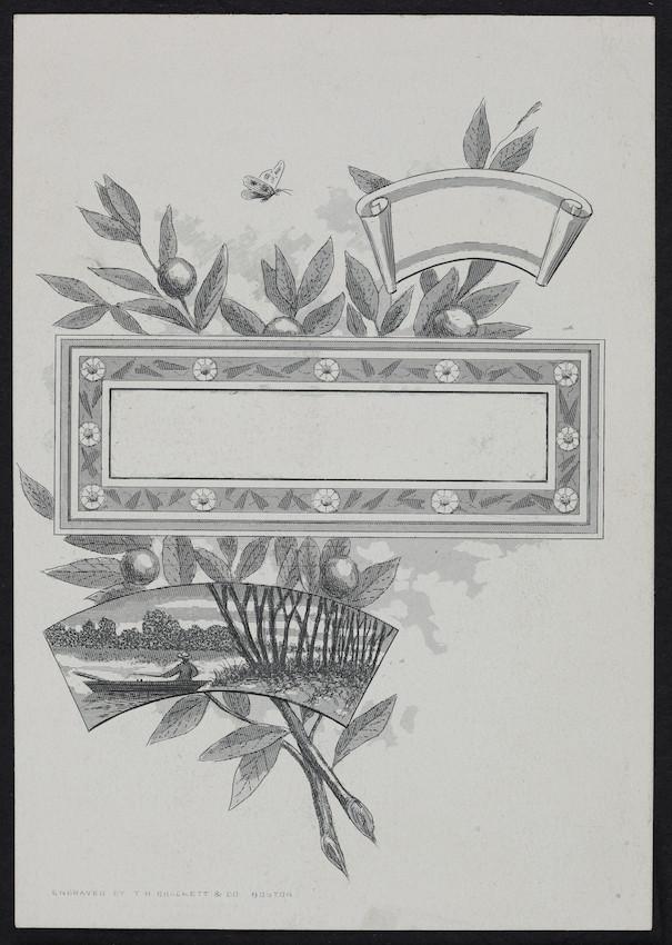 Sample card for T.H. Brackett & Co., Boston, Mass., undated