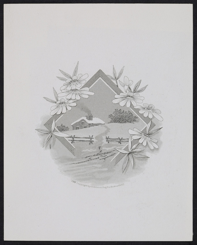 Sample card for Robinson Eng. Co., Boston, Mass., 1882