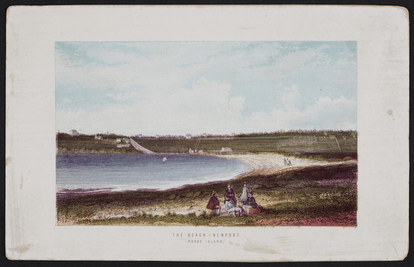 Beach, Newport, Rhode Island, Thomas Nelson & Sons, London, England, 1870s