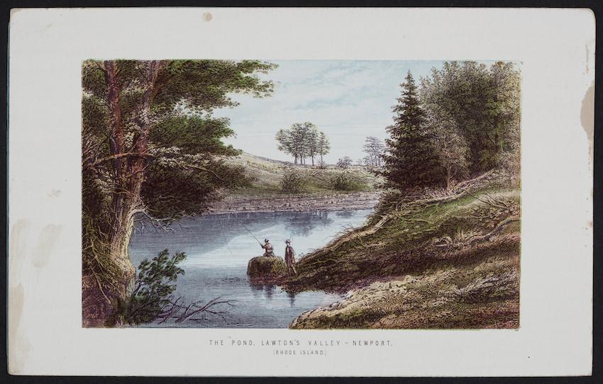 Pond, Lawton's Valley, Newport, Rhode Island, Thomas Nelson & Sons, London, England, 1870s