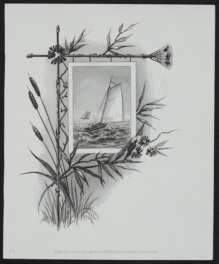 Sample card for A.W. Robinson, Boston, Mass., 1880