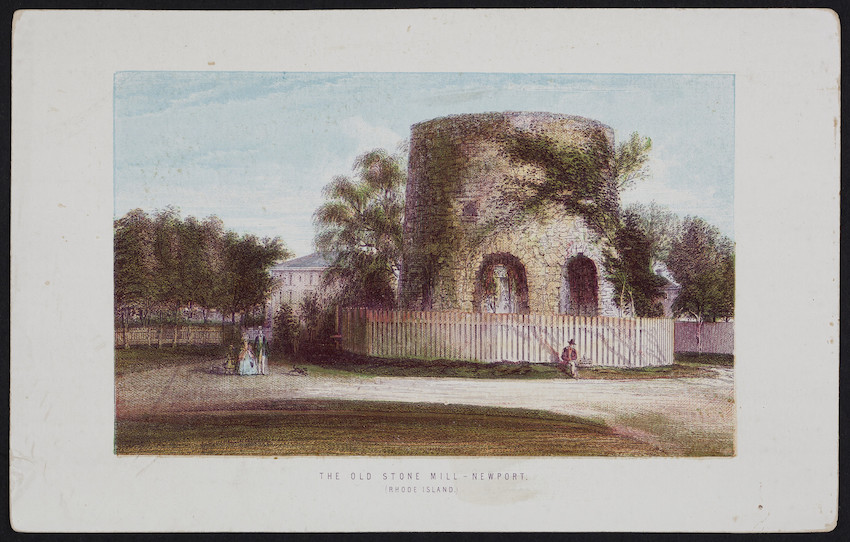 Old Stone Mill, Newport, Rhode Island, Thomas Nelson & Sons, 1870s