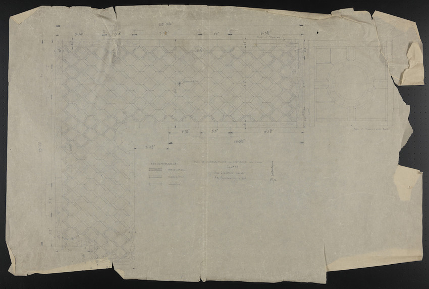 Plan of Marble Floor in Vestibule and Hall, Job #54, Mrs. J.S. Ames House, #3 Commonwealth Ave., undated