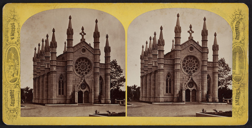 Exterior view of Chapel, Mount Auburn Cemetery, Watertown, Mass.