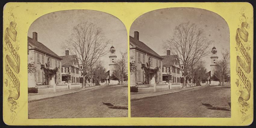 Church Street from Main Street, Waltham, Massachusetts.
