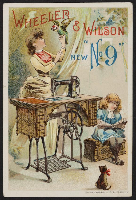 Trade card for Wheeler & Wilson New No. 9, Wheeler & Wilson Mfg. Co., Bridgeport, Connecticut, 1888