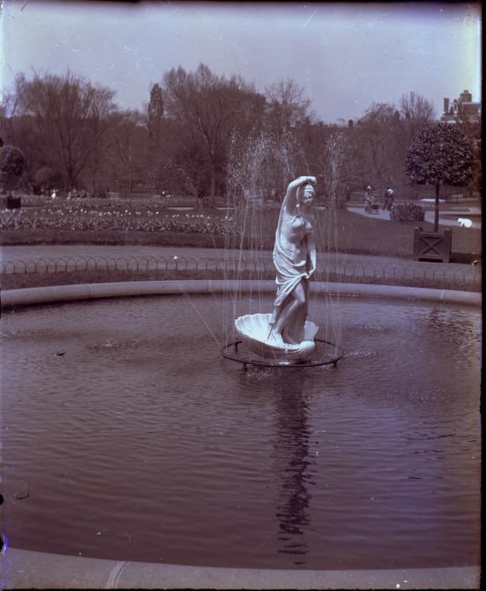 Venus Rising from the Sea statue in the Public Garden, Boston, Mass.