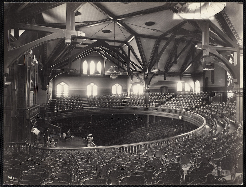 People's Church interior, Columbus Ave., Boston