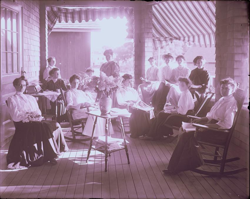 Magnolia Women's Club veranda