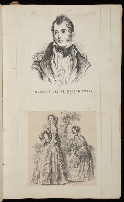 Scrapbook of clipped engravings