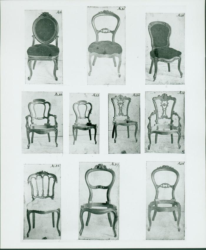 Chairs, no. 19 - 28, John A. Ellis furniture designs