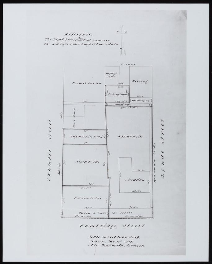 Plot plan of the Otis House