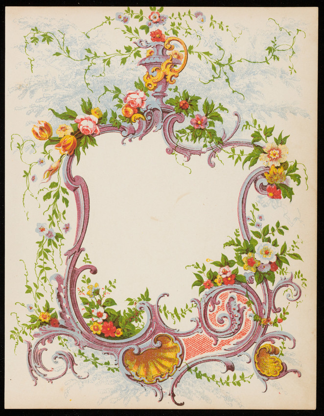 Decorated stationery sheet, location unknown, undated
