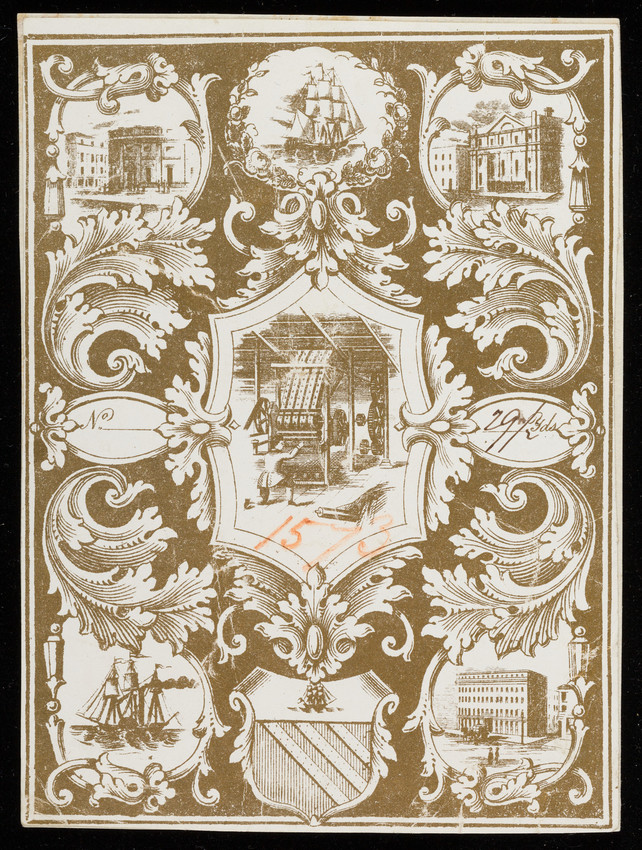 Label for unidentified silk manufacturer, textile factory, location unknown, undated