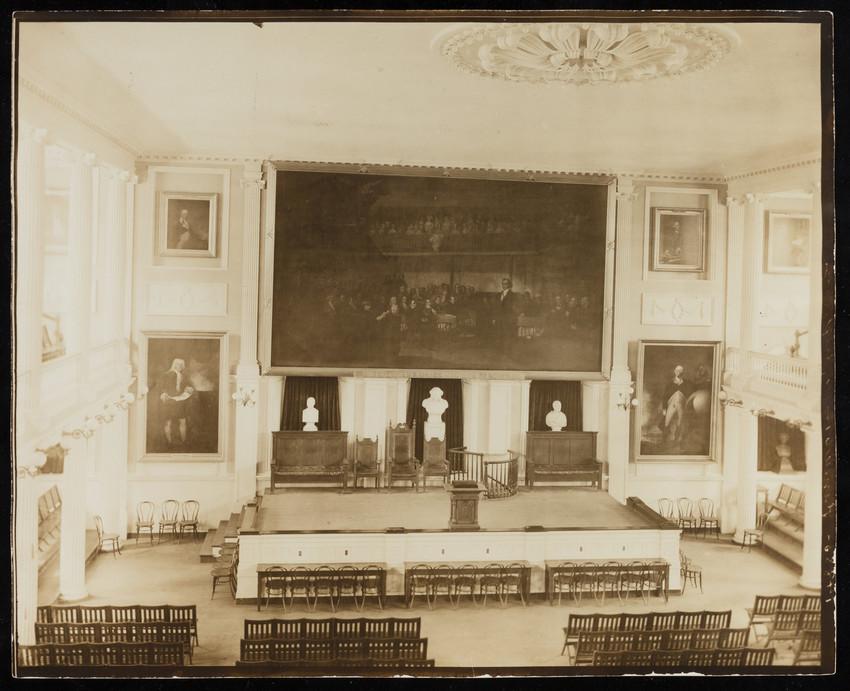 Interior, Fanueil Hall, Boston, Mass.