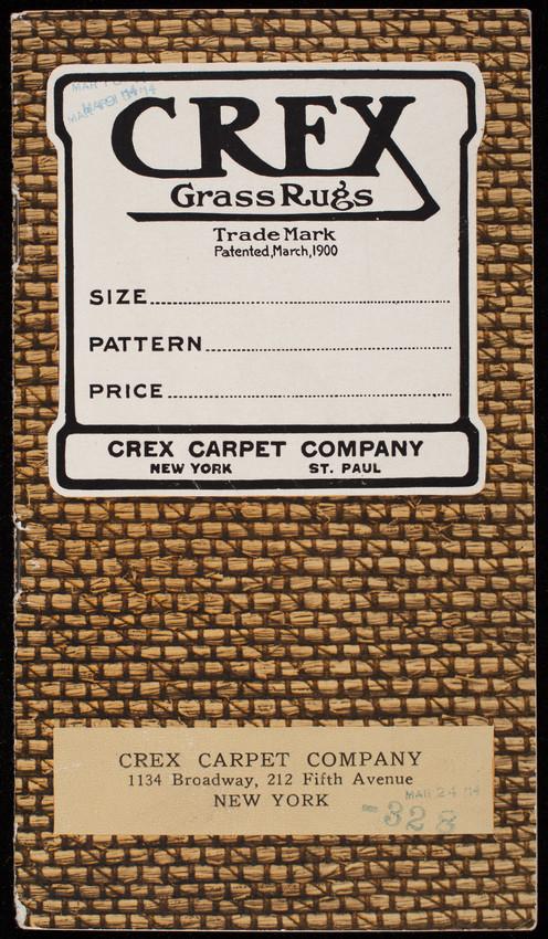Crex Grass Rugs, Crex Carpet Company, 1134 Broadway, 212 Fifth Avenue, New York, New York