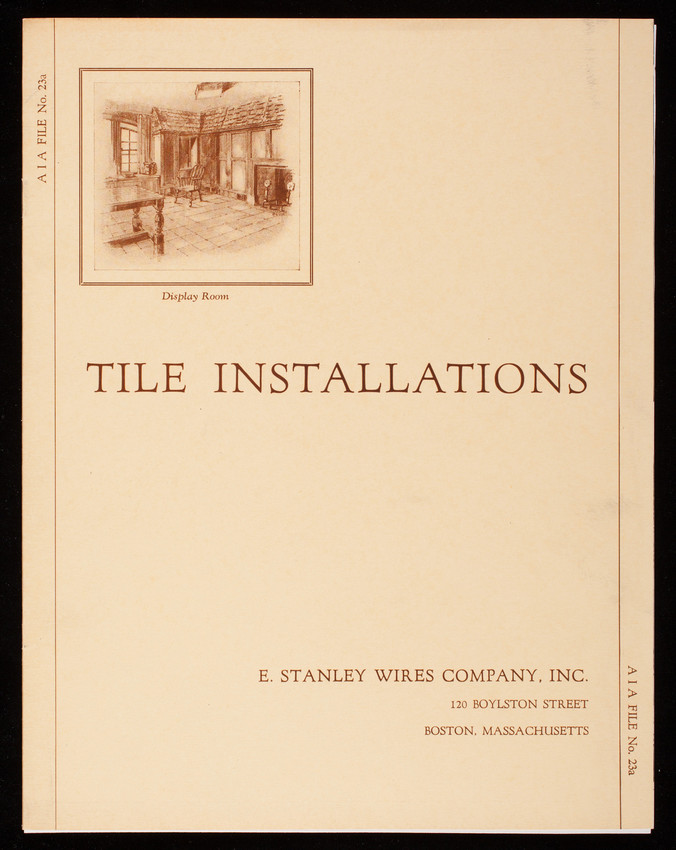 Tile installations, E. Stanley Wires Company, Inc., 120 Boylston Street, Boston, Mass.