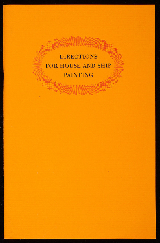 Directions for house and ship painting, Hezekiah Reynolds, American Antiquarian Society, Worcester, Mass.