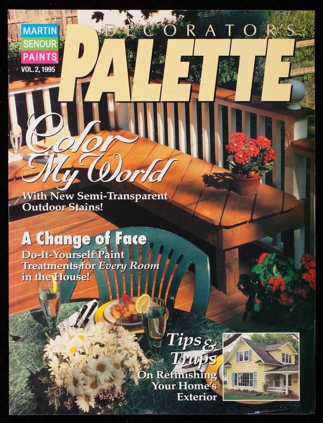 Decorator's palette, volume 2, Martin Senour Paints, Sampler Publications, Inc., 707 Kautz Road, St. Charles, Illinois