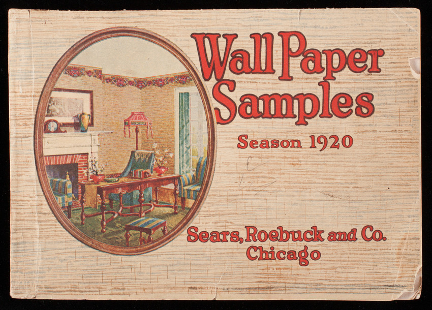 Wall paper samples, season 1920, Sears, Roebuck and Co., Chicago, Illinois