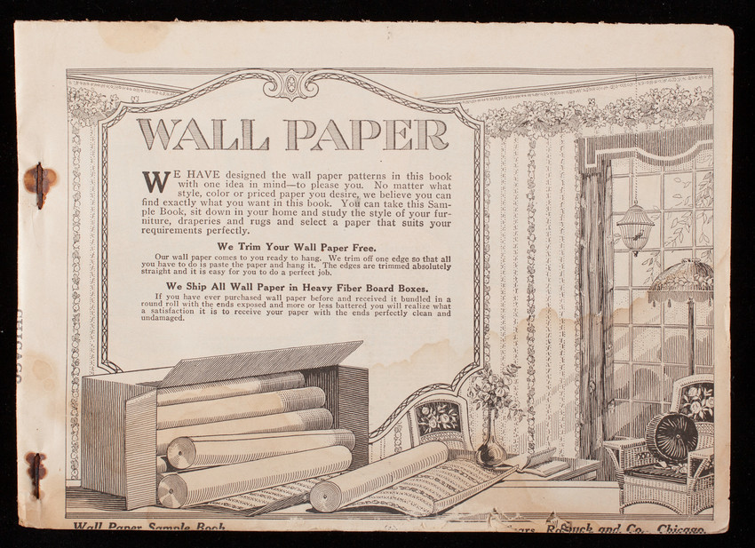 Wall paper sample book, Sears, Roebuck and Co., Chicago, Illinois