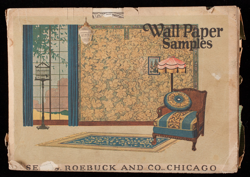 Wall paper samples, Sears, Roebuck and Co., Chicago, Illinois