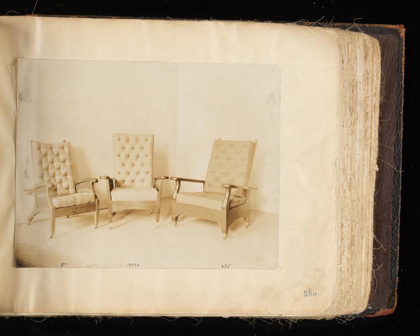 Arm Chair #87, Arm Chair # 12774 and Arm Chair #675