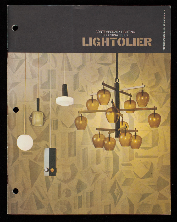 Contemporary lighting coordinates by Lightolier, Lightolier Company, Jersey City, New Jersey