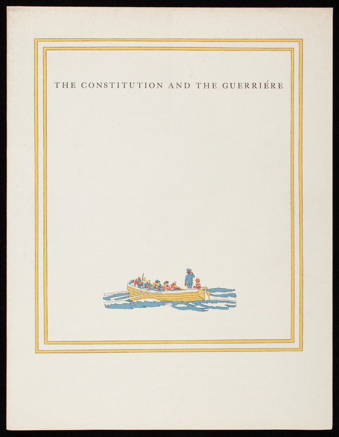 Constitution and the Guerriére, Crane's Business Papers, Crane & Co., Dalton, Mass.