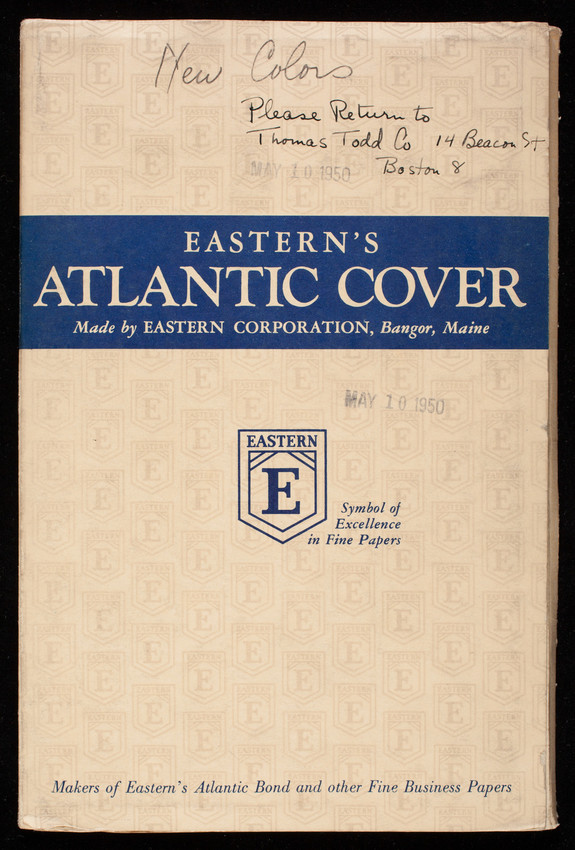 Eastern's Atlantic Cover, made by Eastern Corporation, Bangor, Maine